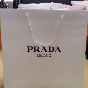 Prada Milano shopping bag